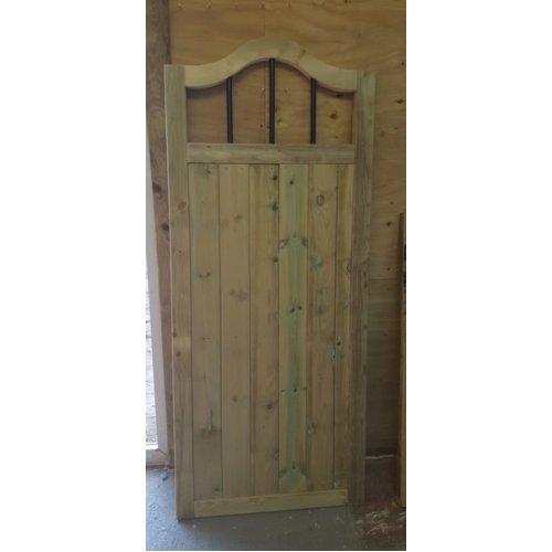 Wooden Garden Gate, Swan Neck 6ft High - UP TO 8 WEEK WAIT