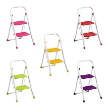 2 Step Ladder Durable Metal Non-slip Rubber Feet