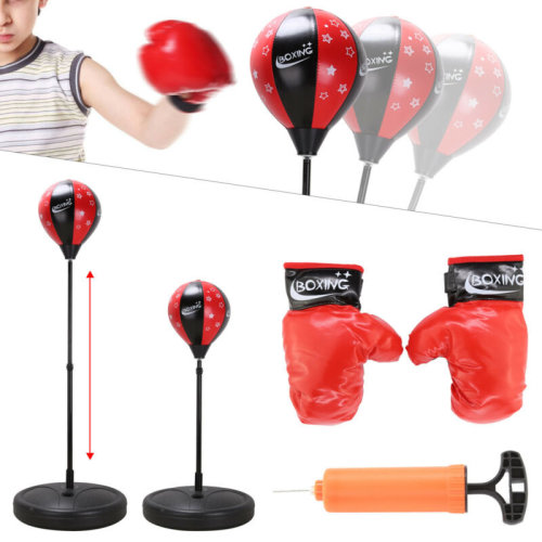 PUNCH BAG BALL AND MITTS GLOVES KIT BOXING SET FOR KIDS//ADULT