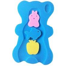 freneci Cute Baby Care Bath Sponge Bath Cushion Safety Pad Bathing - Blue, 49x30x4cm