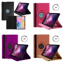 Case For Samsung Galaxy Tab S6 Lite 10.4in 2020 PU Leather 360 Rotating Cover