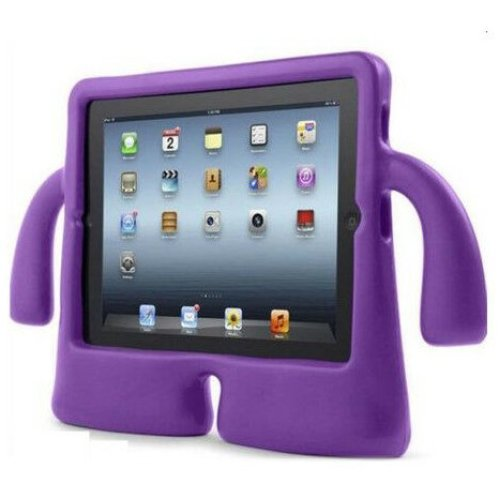 "(For iPad Air/Air 2/Pro 9.7"", Purple) Children's Rubber EVA Foam iPad Cover & Stand"