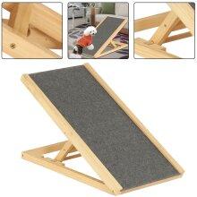 Adjustable Heights Portable Freestanding Pet Dog Non-Slip Stair Ramp