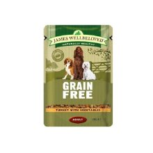 James Wellbeloved Turkey and Vegetables Dog Food Pouches (Pack Of 12)