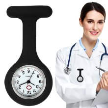 Silicone Rubber Soft Nurses Brooch Tunic Fob Watch With Battery