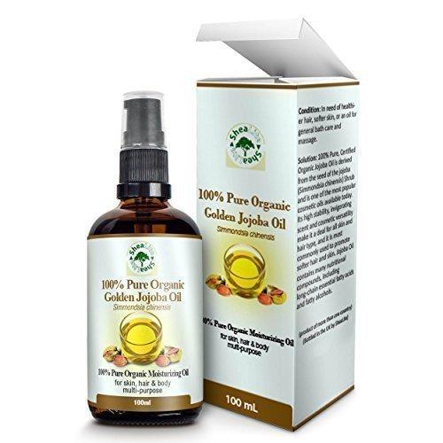 SheaLite Organic Golden Cold Pressed Unrefined Jojoba Oil 100 ml
