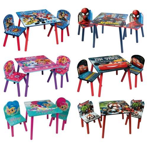 Children's Cartoon Character Table & Chair Set