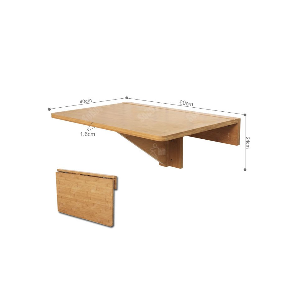 - SoBuy® FWT031-N, Bamboo Folding Wall-mounted Drop-leaf Table Desk