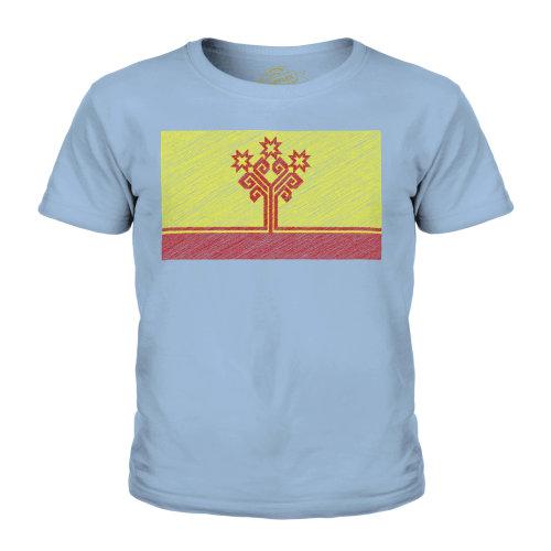Candymix - Chuvashia Scribble Flag - Unisex Kid's T-Shirt