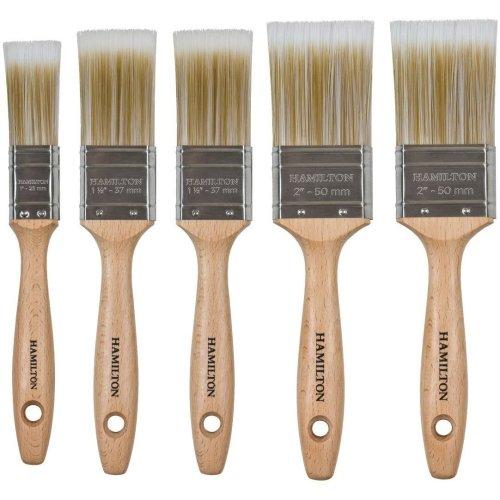 Hamilton Prestige 5pc Brush Set | Synthetic Paint Brush Set