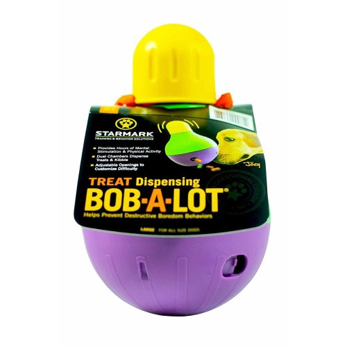 Starmark Treat Dispensing Bob-A-Lot | Dog Treat Dispenser Toy