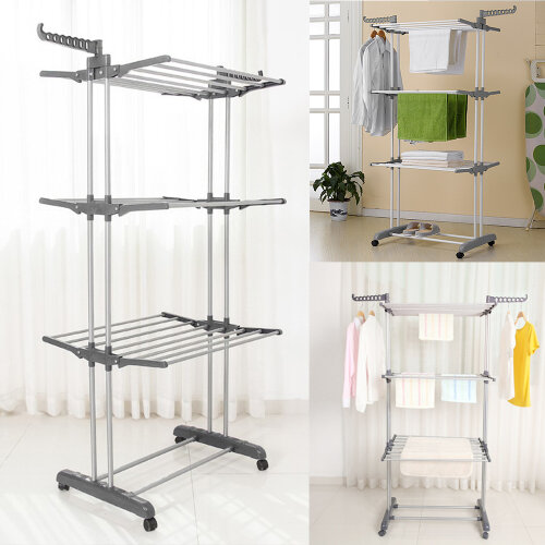 Foldable 3 Tier Extra Large Indoor Outdoor Clothes Airer Laundry Drye