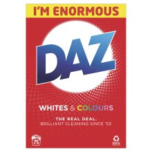Daz Washing Powder Whites & Colours with Built-In Brightness Boosters, 75 Washes