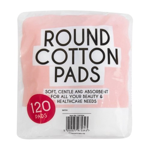 Emporium Cosmetic Lint Free Round Cotton Wool 120 Pads