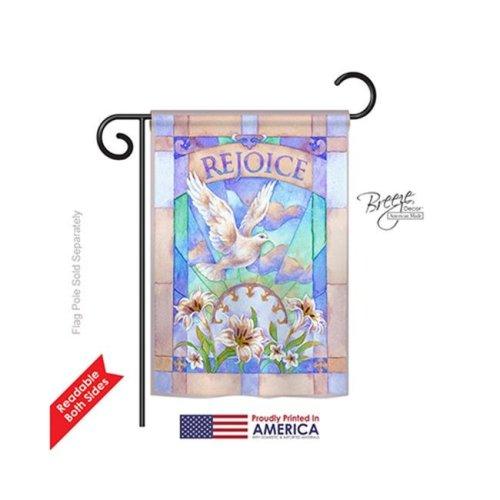 Breeze Decor 53042 Easter Rejoice 2-Sided Impression Garden Flag - 13 x 18.5 in.