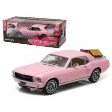 GreenLight 1967 Ford Mustang with Luggage Rack Vehicle Playmate Pink