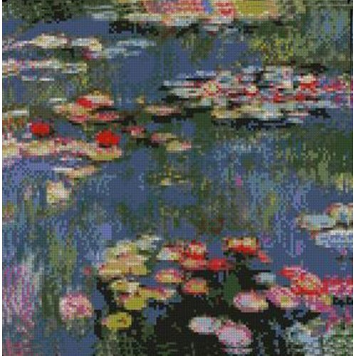 Monet Water Lilies Counted Cross Stitch Kit
