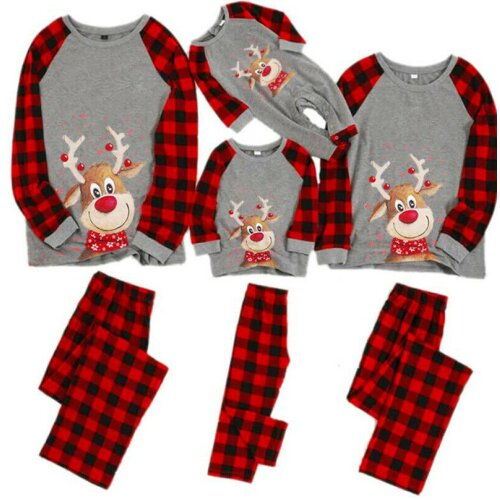 (Large Woman's) Family Matching Christmas Pyjamas Xmas Nightwear Set