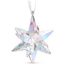 Swarovski 5545450 4.8 x 6.4 x 5 cm Star Ornament & Shimmer, Light Multi Color - Medium