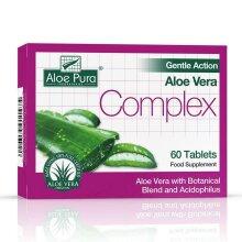 3 X Aloe Pura Aloe Vera Gentle Action Complex Earlier Colon Cleanse 60 Tablets