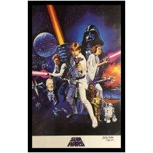 Framed Kenny Baker R2D2 Star Wars signed poster with COA & proof
