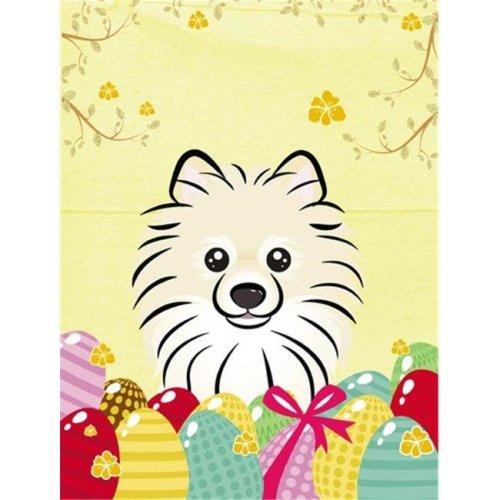 Pomeranian Easter Egg Hunt Flag Garden