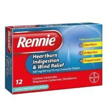 Rennie 3 in 1 - 12 Tablets