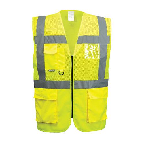 (Yellow, Large) Madrid Executive Mesh Vest