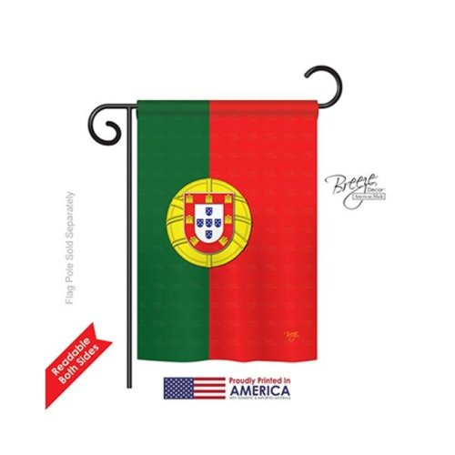 Breeze Decor 58118 Portugal 2-Sided Impression Garden Flag - 13 x 18.5 in.