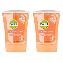 Dettol No-Touch Refill Anti-Bacterial Hand Wash, Grapefruit, 2 X 250ml