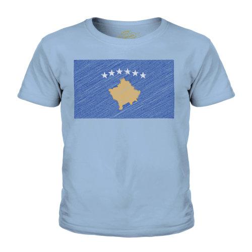 Candymix - Kosovo Scribble Flag - Unisex Kid's T-Shirt