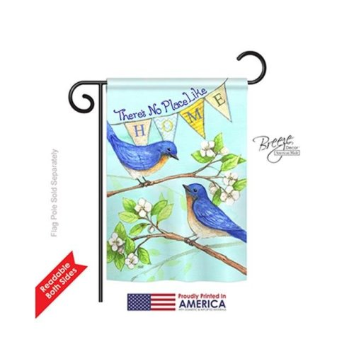Breeze Decor 50059 Welcome Like Home 2-Sided Impression Garden Flag - 13 x 18.5 in.