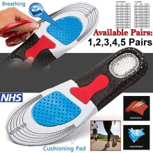 Orthotic Shoe Insoles Arch Support Pad Massage Gel