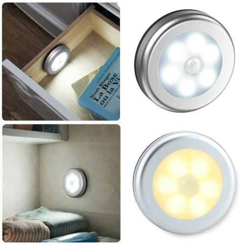 LED PIR Motion Sensor Lights Wireless Night Light Battery Cabinet Stair Lamp