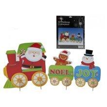 6 Piece Glitter Christmas Design Decorations - 6pc Cardboard Glittery Wall -  6pc christmas cardboard glittery wall decorations
