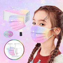 50pcs Kids Disposable Face Mask Children 3ply Earloop Protective