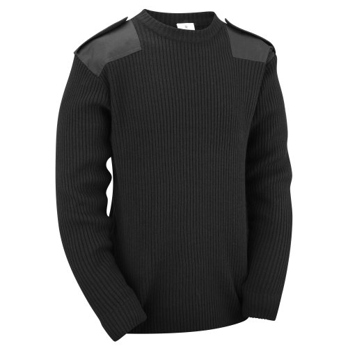 (Black, S) New Military Commando Security Sweater Pullover