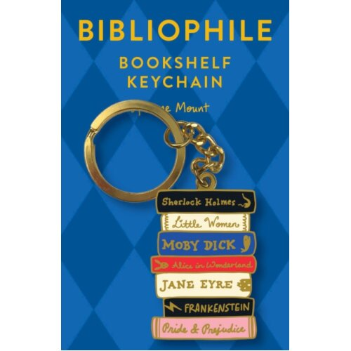 Bibliophile Bookshelf Keychain by Illustrated by Jane Mount