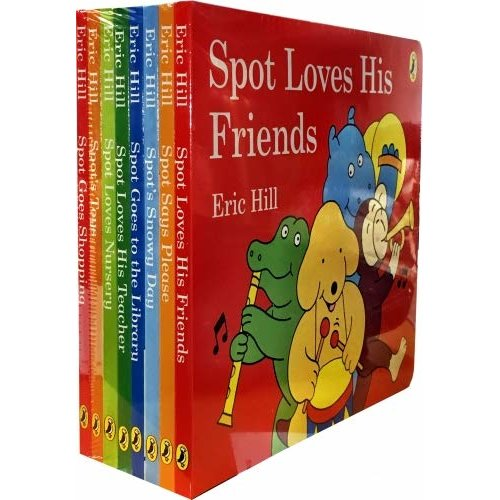 Spot's Story Collection Eric Hill 8 Books (s/w)
