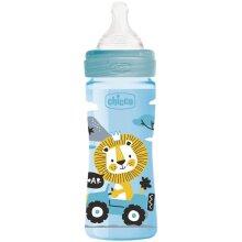 feeding bottle 250 ml polymer/silicones blue/transparent