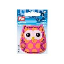 Prym Iron On Patch Owl Pink Orange Motif Trimming Application
