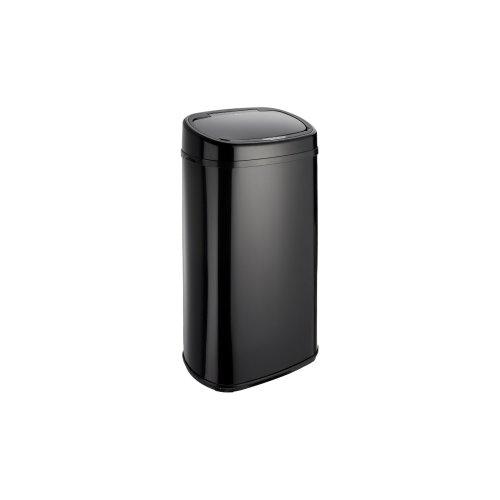 Dihl Round Onyx Automatic Sensor Bin with Black Lid