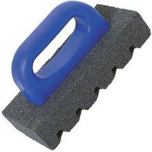 "Marshalltown M840 Rub Brick 6"" x 3"" Square 20 Grit Plastic Handle"