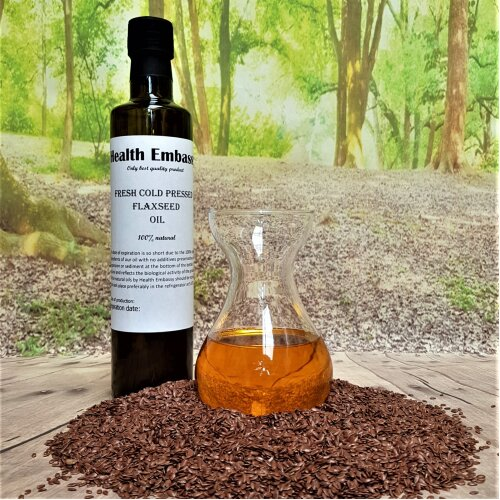 Fresh Cold Pressed Flaxseed Oil Health Embassy
