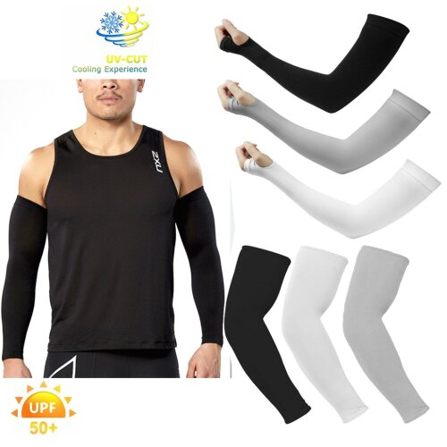 Unisex Outdoor Activity UV Sun Protection Breathable Arm Warmer Sleeve Covers