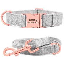 personalized-dog-collar-and-leash-set-free-engraved-pet-dog-id-tag-nameplate-collars-for-small-medium-large-dogs-collar gray