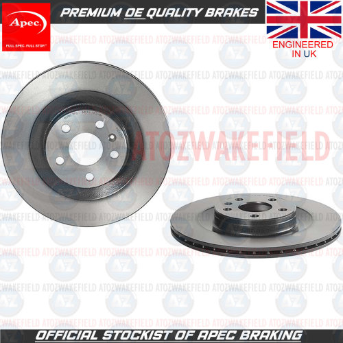 FOR VOLVO XC90 2015- T5 D5 T8 D4 REAR PREMIUM APEC HIGH CARBON BRAKE DISCS 340mm