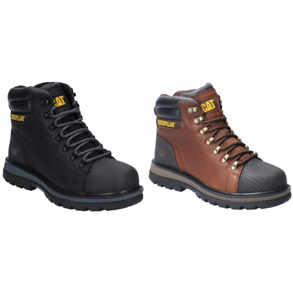 Details about  /Caterpillar Mens Foxfield Lace Up Safety Boot Black