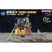 DRAGON 11002 Apollo 11 Lunar Landing Model Kit 1:72 Space