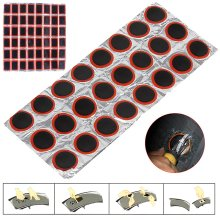 48pcs Rubber Patches Bicycle Puncture Tube Inner Tire Tyre Repair Kit
